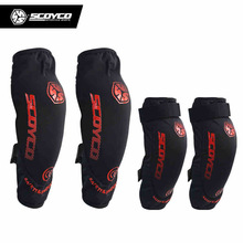 Scoyco K18H18 Motorcycle Motocross Racing Elbow&Knee Pads Guards Shin Braces Sports Safety Protector Protective Gear