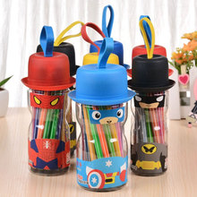 Kids 12/18/24/36 Colors Cartoon Style Marker Pen Watercolor Based Coloring Markers Children Drawing Art Supplier MKP171025b(China)