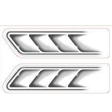 2  Funny Auto Car Vehicle 3D Fake Side Air Vents Outlet Decorative Car Stickers Decals Emblem Symbol car styling