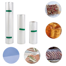 4 sizes Roll Vacuum Bag Food Sealer Saver Bag Meat Vegetable Fruit Keep Fresh Kitchen Vacuum Bags Wrapper Packaging Storage bag