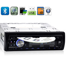 12V 1 DIN Stereo Car DVD Player Auto CD Player Bluetooth Hands Free Calls Wireless Music FM Radio MP3 ID3 SD MMC USB Charger(China)