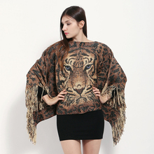 2017 New Fashion Wool Winter Scarf Women Spain Desigual Scarf Pashmina Big Tiger Shawl Brand Shawls  Poncho Ethnic Cape