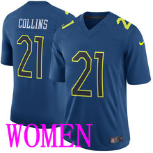 High Quality 2016 Hot sale Nike  Jersey, Collins #21  V-Neck Women's Jerseys, Blue Color short Nike Jerseys