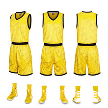 2017 Custom New Men College Team Basketball Jersey Sets Uniforms Kits Sports Clothing Breathable Youth Basketball Jerseys Shorts(China)