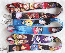 New  30pcs  Japanese Anime Fairy Tail Key Chains Mobile Cell Phone Lanyard Neck Straps Party Favors H-94