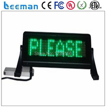 HIGH QUALITY indoor single color indoor taxi top led moving signs,small led display-Direct manufacturer leeman led display taxi