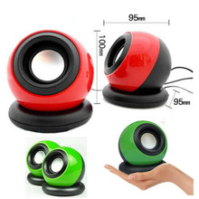 New Mini USB Power Double Wired Computer Stereo Speakers Portable Magic ball Music Player For Mobile Phone MP3 Desktop Laptop
