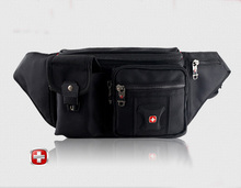 Mens Swiss Famous Brand Logo Canvas Waist Pack  Bag Travel Belt Edc Door Money Pouch Fanny Pack unny pack