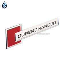 Supercharged Car Emblem Sticker Decal For Land Rover Range Rover Audi A4 A5 A6 Q3 Q5 Q7 S4 S6 VW Volkswagen Styling Accessories(China)