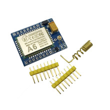 Free Shipping  A6 GPRS GSM Module Kit Wireless Extension Module Board Antenna Tested  super  SIM800L