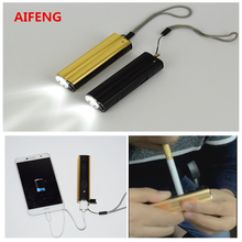 AIFENG Mini USB charging led multifunctional light a cigarette lighter flashlight USB phone charging mobile power supply