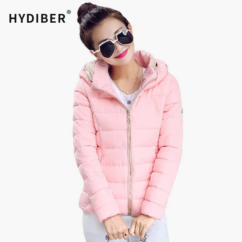 2017 Winter Fashion Jacket Women Hooded Parka Slim Cotton-Padded High Neck 6 Colors Cotton Jacket Coat  Women tops Plus SizeОдежда и ак�е��уары<br><br><br>Aliexpress