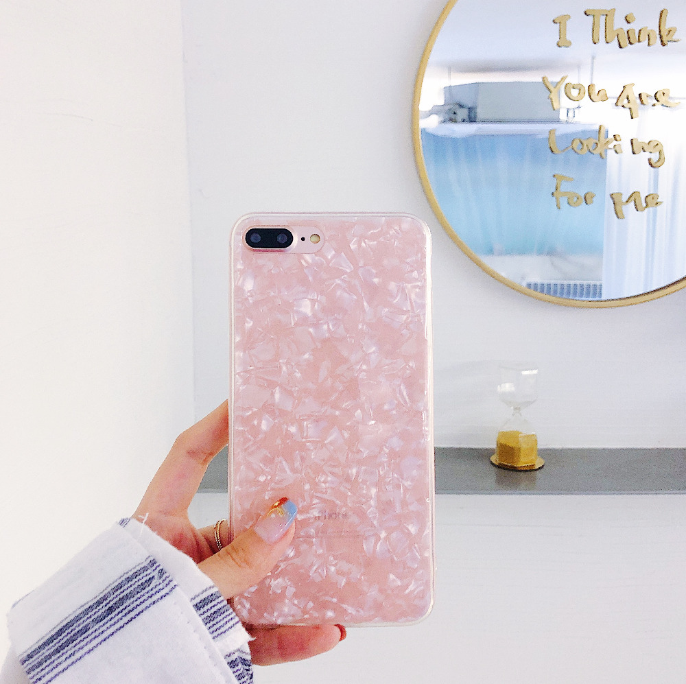 Luxury Shining Cover For iphone X Phone case Conch Shell Soft Women Ladies For iphone8 7plus 6 6 S 10 Coque Fundas Accesories  (7)