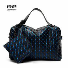 Leatury Ladies Bags Set Woman Tote Bags 2016 Bag Handbag Fashion Handbags  Geometric Patchwork Diamond Tote for Party Shopping