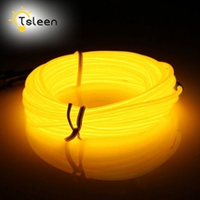 TSLEEN Cheap+ Big Promotion 2 3 5M 3v battery powered neon led el wire string strip rope tube car dance party