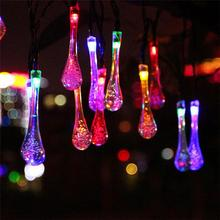Waterproof Icicle Style 20-LED Solar LED Strip Fairy Light Outdoor Garden Party Decoration (Multicolor)