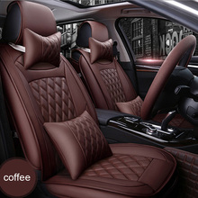 ( Front + Rear ) Luxury Leather car seat cover For Mercedes Benz A B C D E S series Sprinter Maybach CLA CLK auto accessories