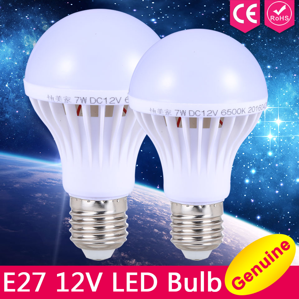 E27 LED Bulb Lights 3W 5W 7W DC 12V Led Lamp E27 9W 12W 15W Energy Saving Lampada 12 Volts Led Light Bulbs for Outdoor Lighting<br><br>Aliexpress