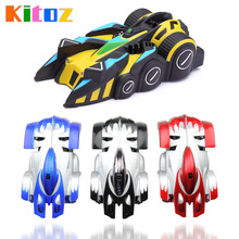 Kitoz 2017 New RC Wall Climbing Car Remote Control Anti Gravity Ceiling Racing Car Electric Toy Machine Auto Gift for Children(China)