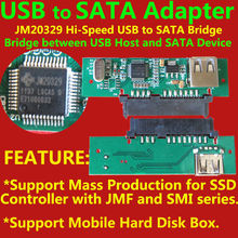 SATA to USB Bridge Board, JM20329D Adapter,Support SSD with JMFxxx and SMIxxx series for Mass Production /MP/ Activate SSD Card