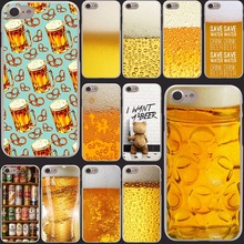 The Iced  A Glass of Beer Cool Summer Luxury Bubble bear phone Hard Clear Skin for iPhone  4 4s 5 5s SE 5c 6 6s 7 7 plus cool