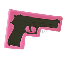 DIY Gun Pistol Shape Silicone Fondant Soap 3D Cake Mold Cupcake Jelly Candy Chocolate Decoration Baking Tool Moulds FQ3320