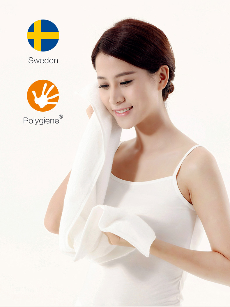 Original Xiaomi Mijia ZSH Pure Cotton Baby Face Towel Antibacterial 1.6 Second Strong Water Absorption xiaomi smart home