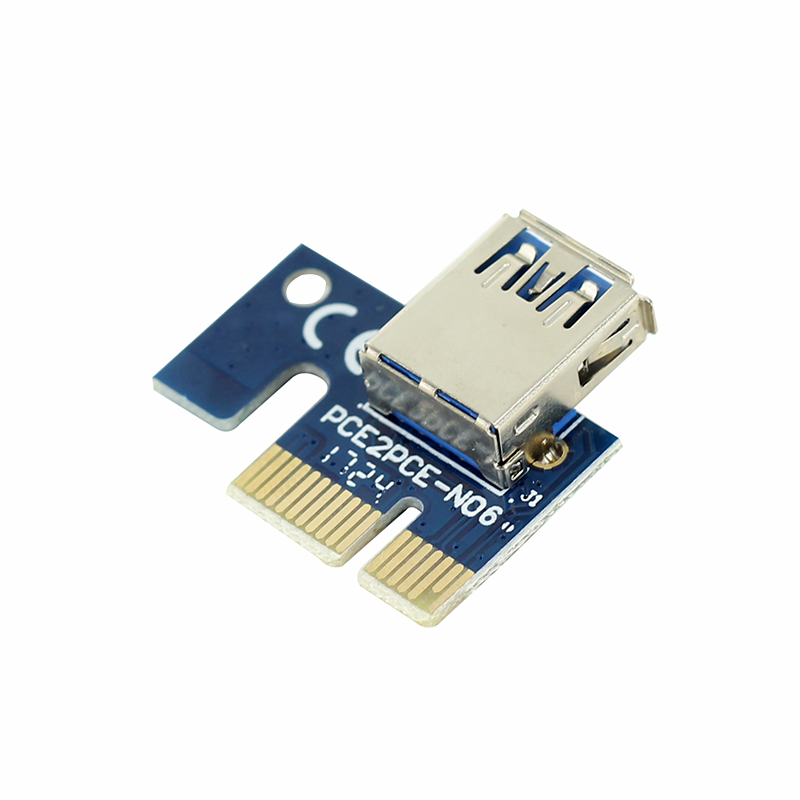 PCIE 1X to16X PCI-E 1X to USB to Video Graphics Card Expand the line Mining PCI-E Extension Line Small Card Board