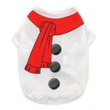 Dog Christmas Dog Clothes for Small Dogs Christmas Theme Snowman Pet Shirt Ropa Mascotas Clothes for Dogs