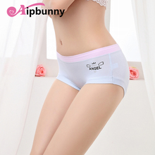 Buy Aipbunny Newest print angel Panties Sexy Women Candy Color Seamless Briefs Ice Silk Cool Intimates Knickers Underwear Sleepwear