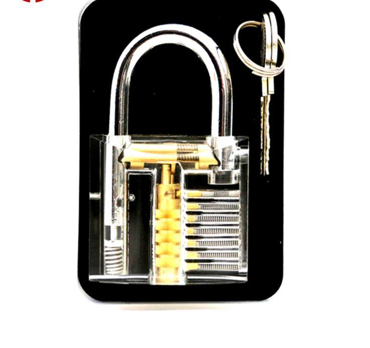 Free Shipping Transparent Padlock Lock Lock Locksmith Supplies<br><br>Aliexpress