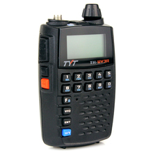 Black Walkie Talkie UHF + VHF 128CH TYT TH-UV3R Dual Band Standby Frequency TYT Two-Way Radio A0862A handheld radio