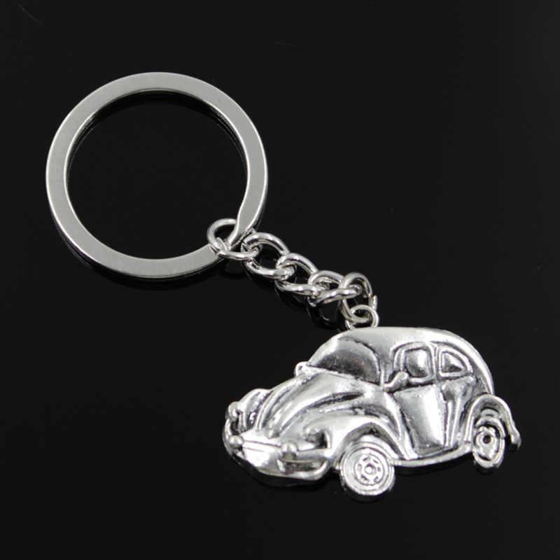 new fashion men 30mm keychain DIY metal holder chain vintage car bug beetle  herbie 39  7fdbe0524c