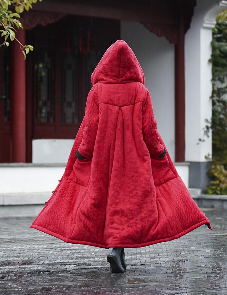 female winter hooded cape (2)