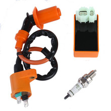 Hot Sale Motorcycle Performance CDI+ Ignition Coil + Spark Plug Fit Gy6 50cc 125cc 150cc