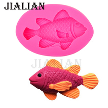 Selling 3D Marine life fish Cake Chocolate Mold for the Kitchen Baking Cake Tools DIY Sugarcraft Decoration silicone mould T0535