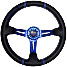 340mm Racing Car MOMO Drifting Steering Wheel 14 inch PVC MOMO Steering Wheel Blue Red Gold
