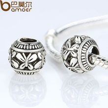 Vintage Silver Color Butterfly Charm Fit Bracelet Necklace Original Accessories PA5286(China)