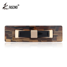 Rectangle Hair Barrette Geometric Hair Clips Cellulose Acetate Hair Accessories For Women Fashion Jewelry Tiara (CY810029)