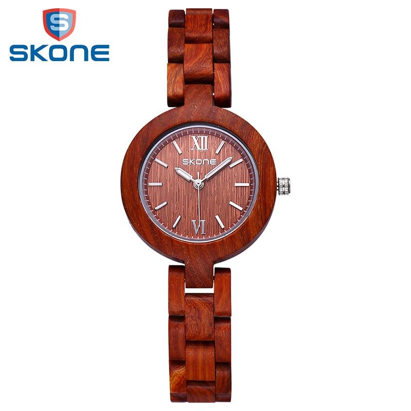 SKONE 2017 New Handmade Wooden Watches Women Fashion Casual Quartz Lady Dress Wristwatch Analog Wood Female Watch Reloj Mujer<br>