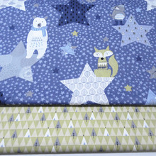 161083 , The fox cartoon 50cm*150cm DIY handmade cotton cloth fabric , The baby cotton bedding , The tablecloth accessories