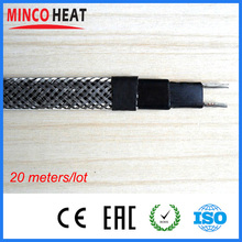 Minco Brand Pipe Defrost Cable Road Deicing Self Regulating Electric Heating Cable Heater Wire With Metal Braid Explosion Proof(China)