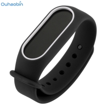 Buy Ouhaobin Smart Wrist Strap Replacement Silica Gel Wristband Watch Band Black Strap Xiaomi Mi Band 2 Bracelet Straps Dec12 for $1.29 in AliExpress store