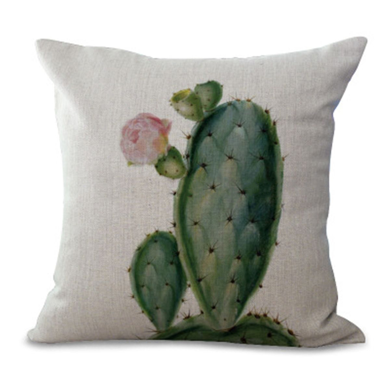 Plant Pillow Cover Succulent Cactus Pillow Case Colorful Cactus Cushion Cover for Home Sofa Decoration Pillowcase