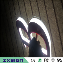 Outdoor three sides illuminated acrylic led light letters for shop sign(China)