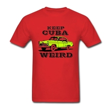 Adult Long Homme T-shirt Firm  Old Car Tees with keep Cuba weird vintage car Men Best Selling Customized Clothing