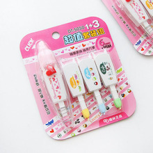 D32 Set of 4pcs Cute Decorative Replacement Correction Tape Stationery Set School & Office Supply Student Stationery Kids Gift(China)