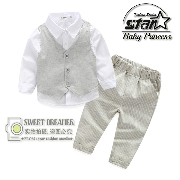 2016 New Boys Clothing Gentleman Sets Spring Baby Boy Clothes Sets Kids Clothes Boys Long Sleeve Toddler Children Boys Clothing <br>