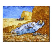 Rest from work of vincent van gogh handmade reproduction oil painting on canvas wall art picture for living room home decoration