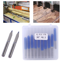 LETAOSK 10pcs V Shape Tungsten Steel 30 Degree 0 2mm PCB Engraving Bit CNC Router ToolAccessories